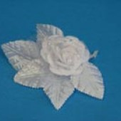 Бутоньерка роза бел.